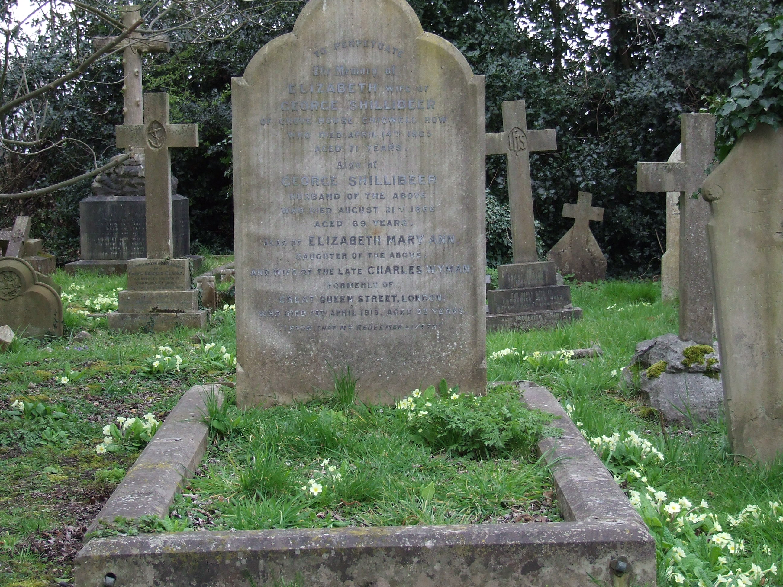 The George Shillibeer grave Chigwell