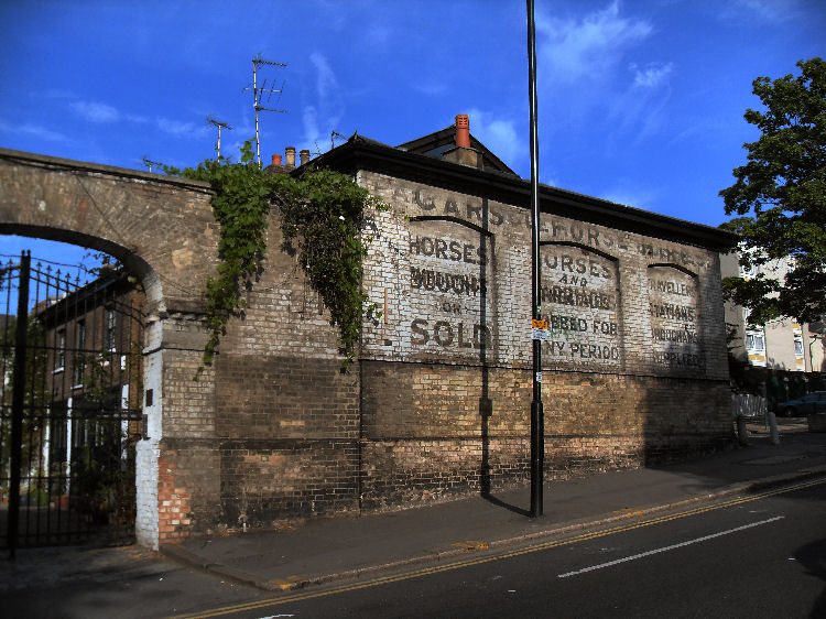 ghost sign of clapham horse sales
