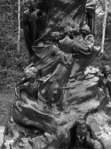Sculptured by Sir George Frampton with the wonderful carved base, fairy's and rabbits