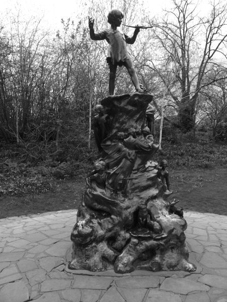 The statue of Peter Pan in Kensington Gardens