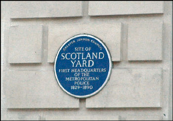 scotland yard blue plaque