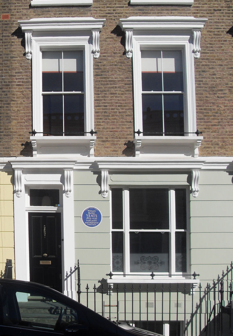 W. B. Yeats & Sylvia Plath's home at 23 Fitzroy Road